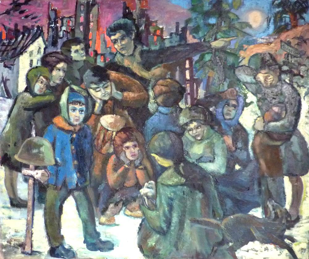Nr.74 Kinderkreuzzug Nach B.Brecht 110×130 – Oel